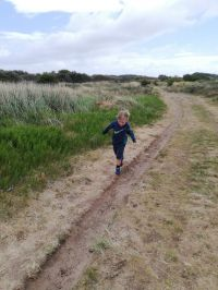 4 year old Chris takes on 5K sand dunes challenge