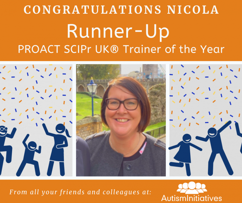 Nicola Manners, Runner Up PROACT SCIPr Trainer of the Year 200